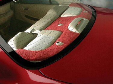 Custom Tailored Rear Deck Covers Designer Velour for  Saturn