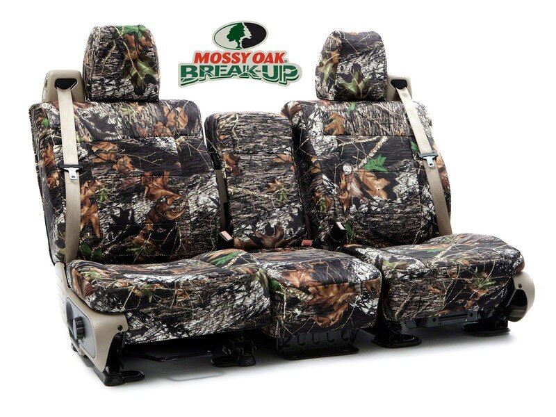 Custom Seat Covers Mossy Oak Camo for 2017 BMW 740Le xDrive