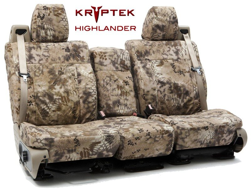 Custom Seat Covers Kryptek Camo for  Ford E-350 Econoline Club Wagon